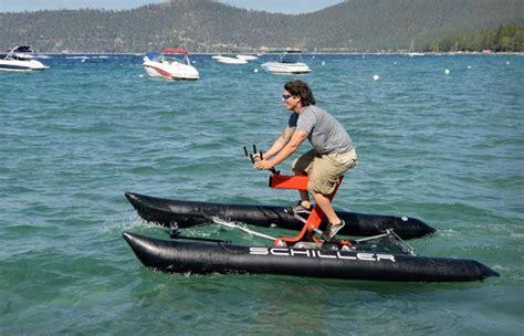 trimaran cycle schiller x1 water bicycle jebiga design lifestyle