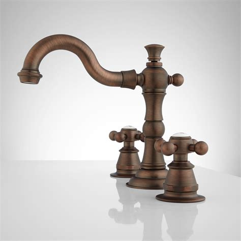 oil rubbed bronze bathroom roseanna widespread bathroom faucet metal cross handles