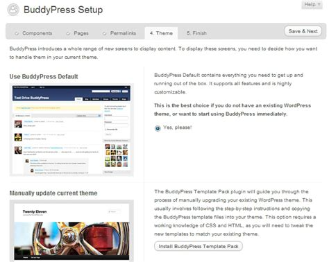 An Illustrated Guide Install Setup Buddypress 1 5 Wpmu Org Wpmu Dev Buddypress Template Pack