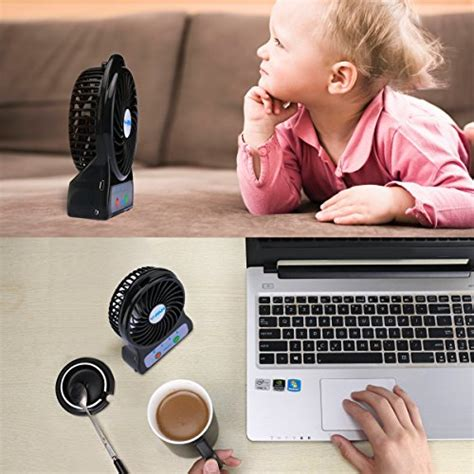 Tiny Desk Fan by Mini Battery Operated Fan Portable Personal Handheld Tiny