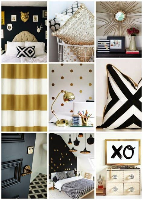 pretty living black white and gold http
