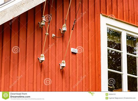 electric wire on house stock photo image 56594121