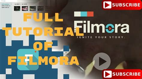 filmora full tutorial how to use filmora full tutorial youtube