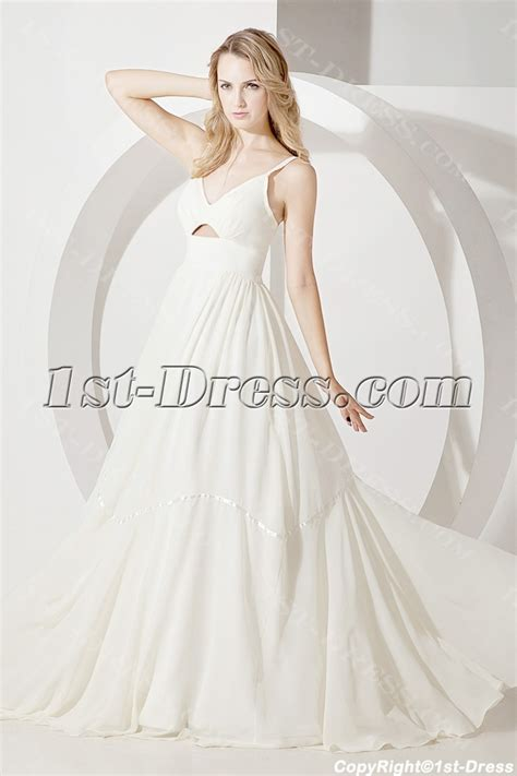 cheap spaghetti straps simple bridal dress 1st dress com