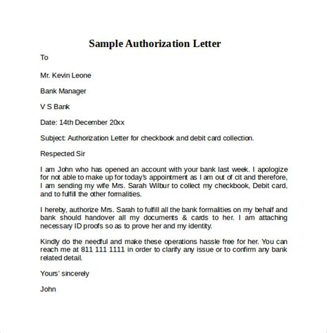 Authorization Letter Handover Sle Letter Of Authorization 9 Free Documents In Pdf Word