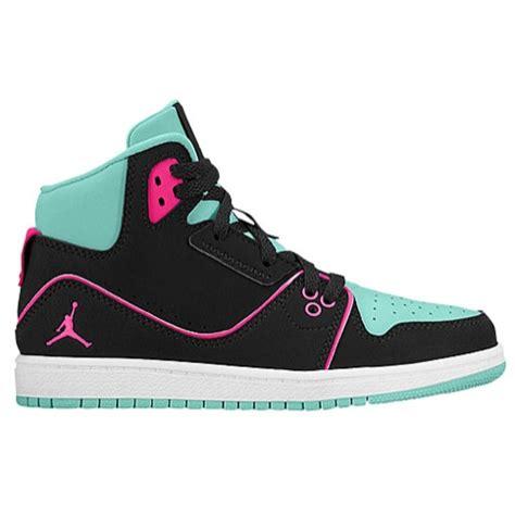Jordan 1 flight 2 girls preschool basketball shoes bleached