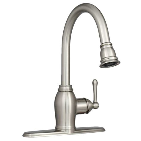 brushed nickel single handle kitchen faucet ez flo metro collection european flair single handle pull