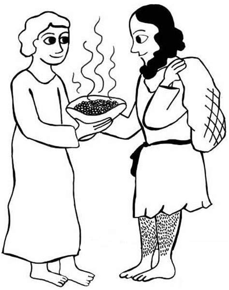 coloring page jacob and esau free coloring pages of esau forgives jacob