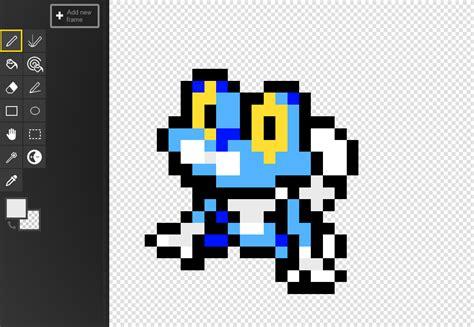 froakie pixel by elysian boy on deviantart
