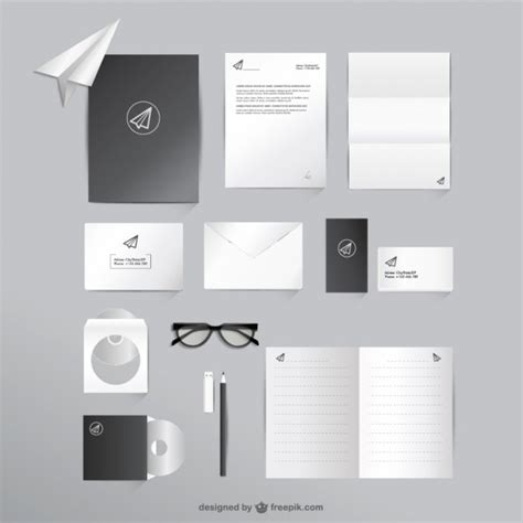 template mockup card set business and office mock up set vector free