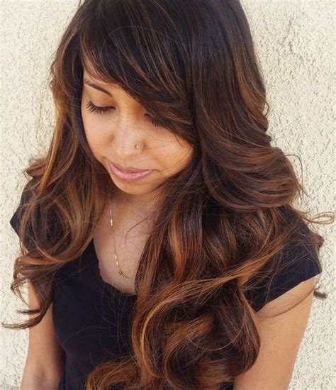 hairstyles with bangs and highlights 40 refreshing variations of bangs for round faces page
