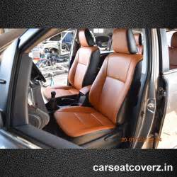Seat Cover Innova Crysta Toyota Innova Crysta Leather Seat Covers Leather Car