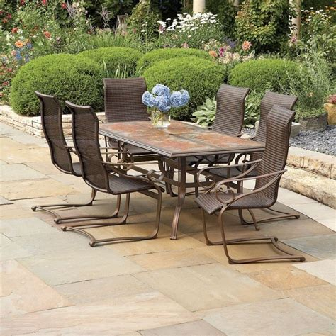 Wrought Iron Patio Set Lowes Furniture Home Depot The Lowes Wrought Iron Patio Furniture