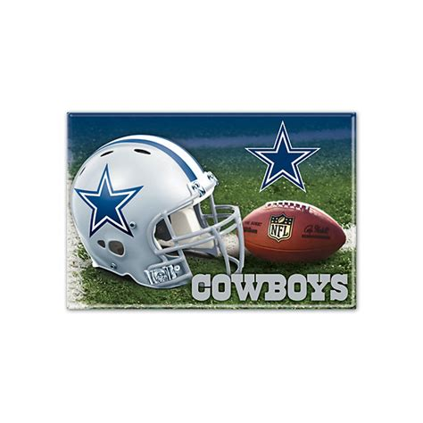 dallas cowboys rectangle metal magnet home decor home