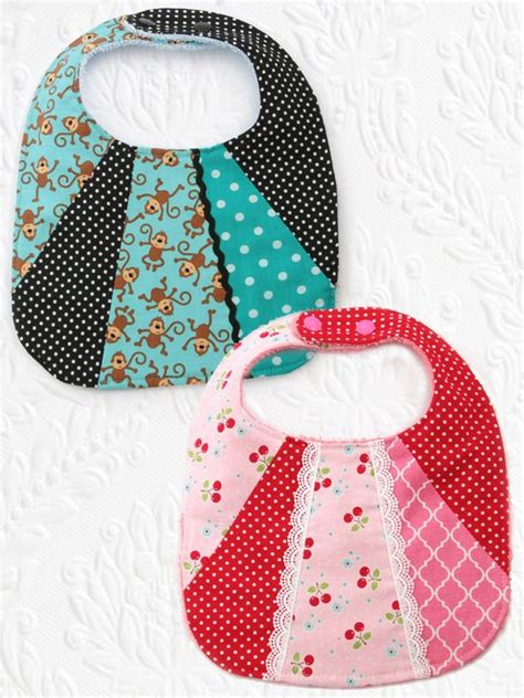 Patchwork Clothing Patterns - bib3 patchwork baby bib pattern set of 2 sewing
