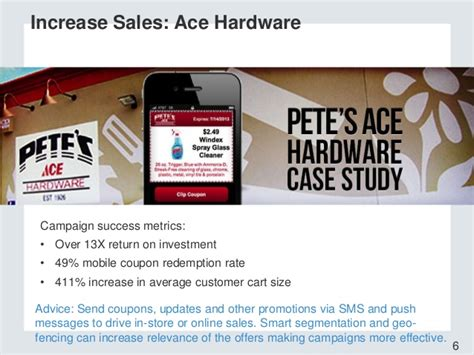 ace hardware sms 4 step guide to mobile engagement presented by forrester