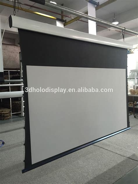 Ceiling Mounted Screen For Projector ceiling mount electric tensioned projection screen