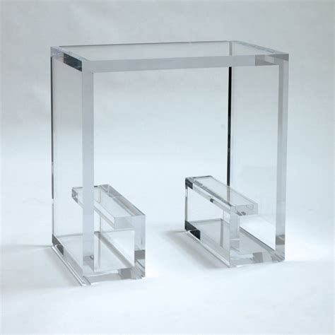 acrylic accent table furniture charles hollis jones tables for sale at stdibs