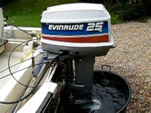 evinrude 25hp start up youtube