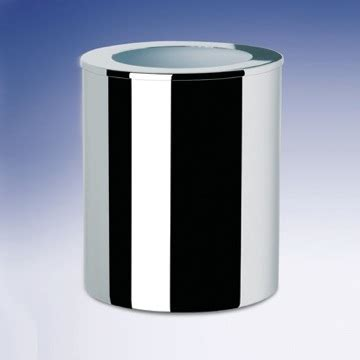 glass bathroom trash can round metal bathroom waste bin 89129