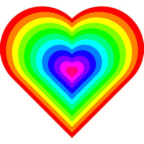 hearts pictures for hearts gif rainbow animation