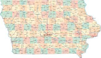 county map with roads image gallery iowa road map printable