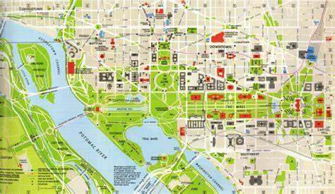 washington dc map of attractions map of washington dc map of washington dc