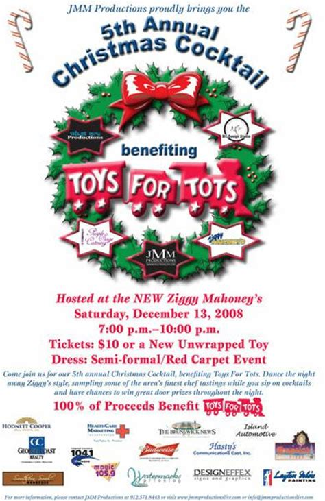 Toys For Tots At The New Ziggy S This Weekend On Saint Simons Island Toys For Tots Email Template