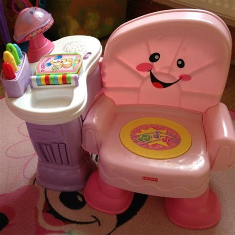fisher price laugh learn pink musical chair for sale in
