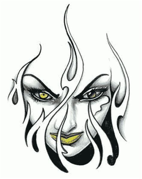tatto design tribal face 1