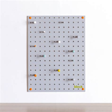 white pegboard with wooden pegs small by block design grey pegboard with wooden pegs small by block design