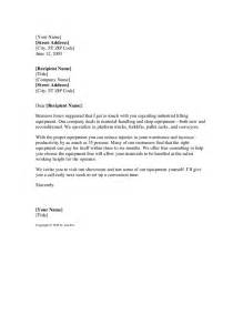Request Letter Format Sle Sle Sales Letter For Equipment Company Hashdoc