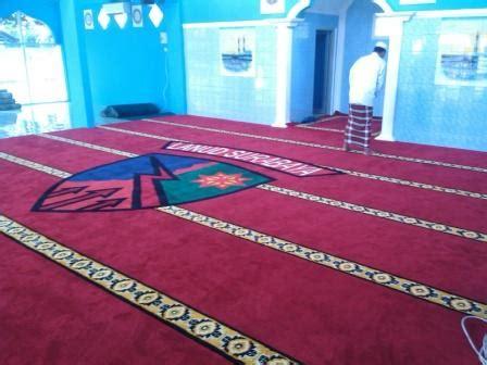Karpet Masjid Di Surabaya pemasangan karpet masjid di lanud surabaya hj karpet