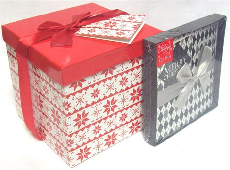 set of 2 flat packed build your own christmas gift boxes