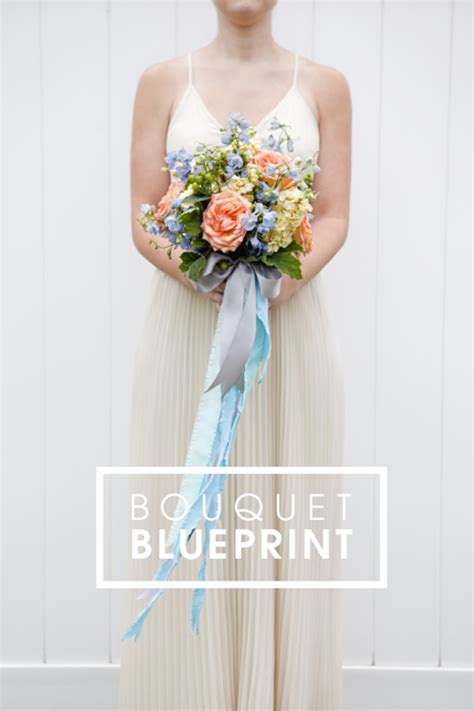 Wedding Bouquet With Ribbon by Bouquet Blueprint Diy Wedding Bouquet With Ribbons