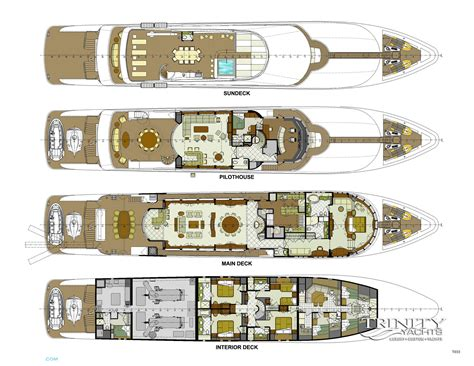 luxury yacht floor plans amarula sun layout trinity yachts motor superyachts com