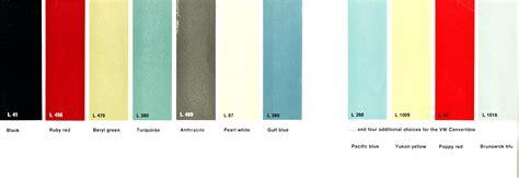 thesamba vw archives 1962 1963 vw beetle colors