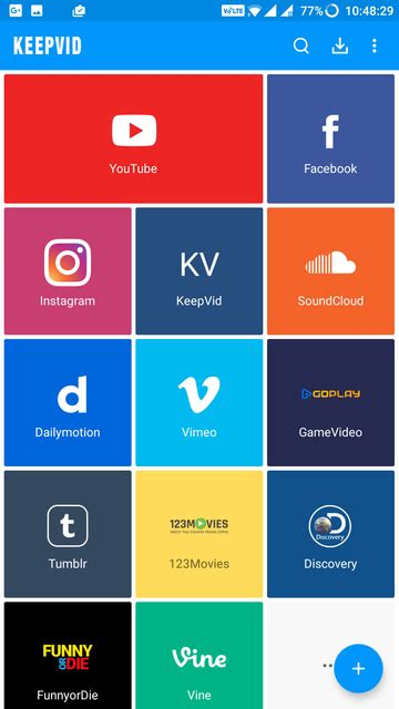 downloaders for android keepvid android the ultimate downloader for android droidviews