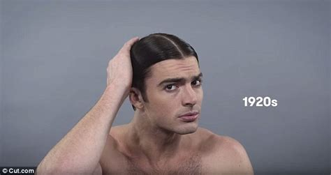 male hairstyles history video sees model charting evolution of male beauty trends
