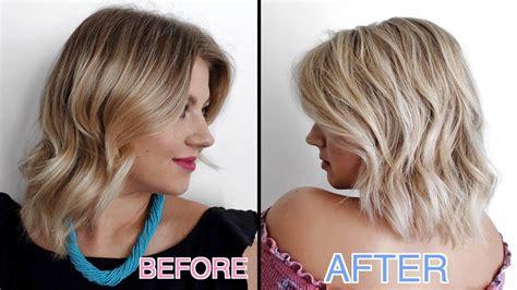 hair cut after dbs my hair vlog hair color haircut short hairstyle