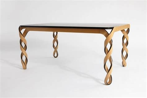elegant table elegant table with legs inspired by the structure of dna
