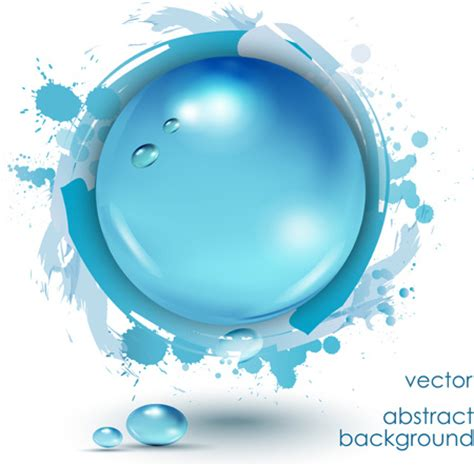 water layout vector water drop with grunge background vector free vector in