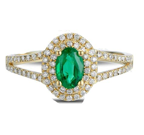 antique halo 2 carat emerald and engagement