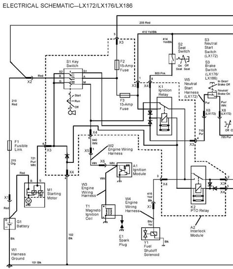 deere 318 ignition switch wiring diagram wiring