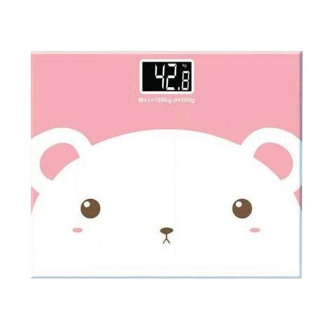 Alat Penimbang Berat Badan Digital jual free pemotong apel timbangan badan digital karakter kartun putih pink 180 kg alat