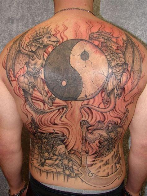 japanese yin yang tattoo big japanese yin yang backpiece tattoo tattoos pinterest