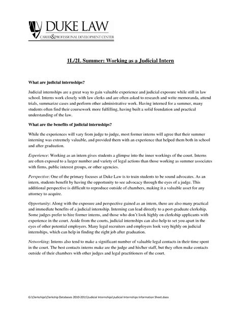 sles of cover letters for internships resume exles templates judicial internship cover