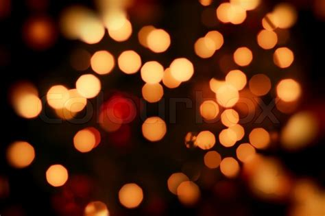 abstract background of orange lights stock