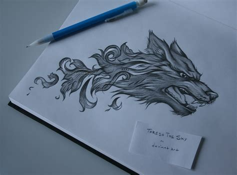 baroque wolf tattoo by threshthesky on deviantart