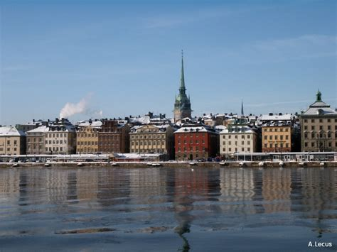 photo stockholm gamla stan stockholm l hiver su 232 de